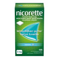 NICORETTE Icemint Gum 2 mg liečivé žuvačky 105 ks