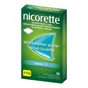 NICORETTE Icemint Gum 4 mg 30 liečivých žuvačiek