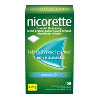 NICORETTE Icemint Gum 4 mg liečivé žuvačky 105 ks