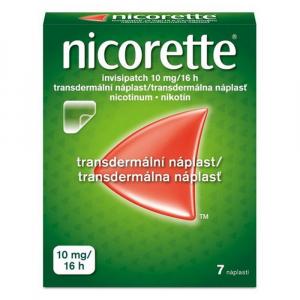 NICORETTE Invisipatch 10 mg/16 h náplasť 7 kusov