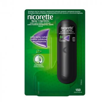NICORETTE Spray 1mg/dávka orálna roztoková aerodisperzia 13,2 ml