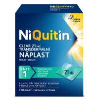 NIQUITIN Clear 21 mg 7 náplastí