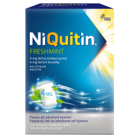 NIQUITIN Freshmint 4 mg 100 liečivých žuvačiek