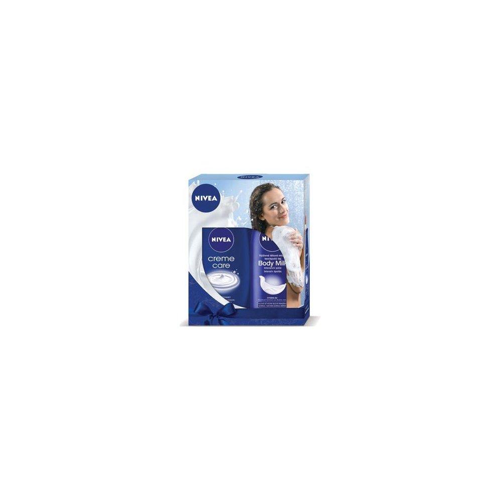 NIVEA kazeta pre ženy MILK sprchový gél 250 ml + telové mlieko 250 ml