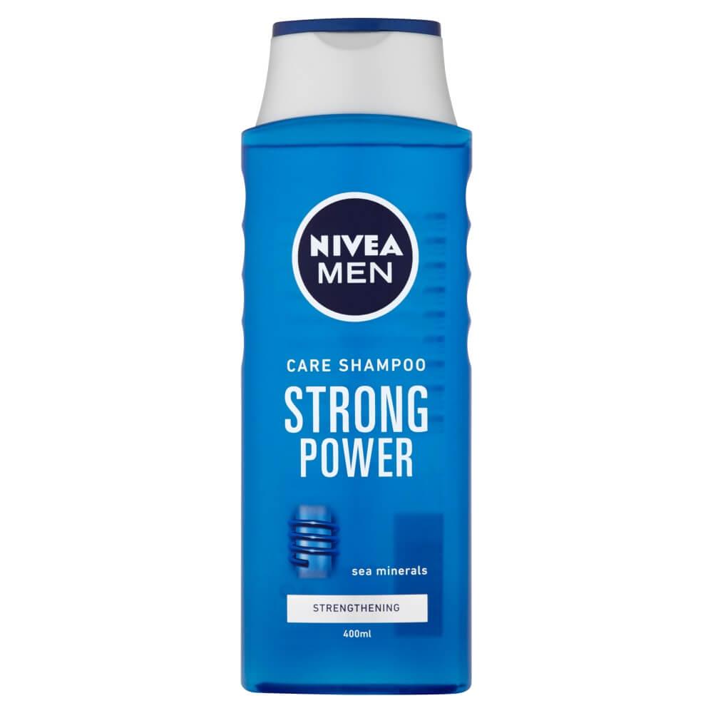 NIVEA MEN šampón pre normálne vlasy Strong Power 400 ml