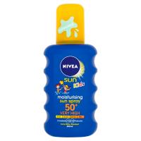 NIVEA Sun Detský farebný sprej na opaľovanie OF 50+ 200 ml