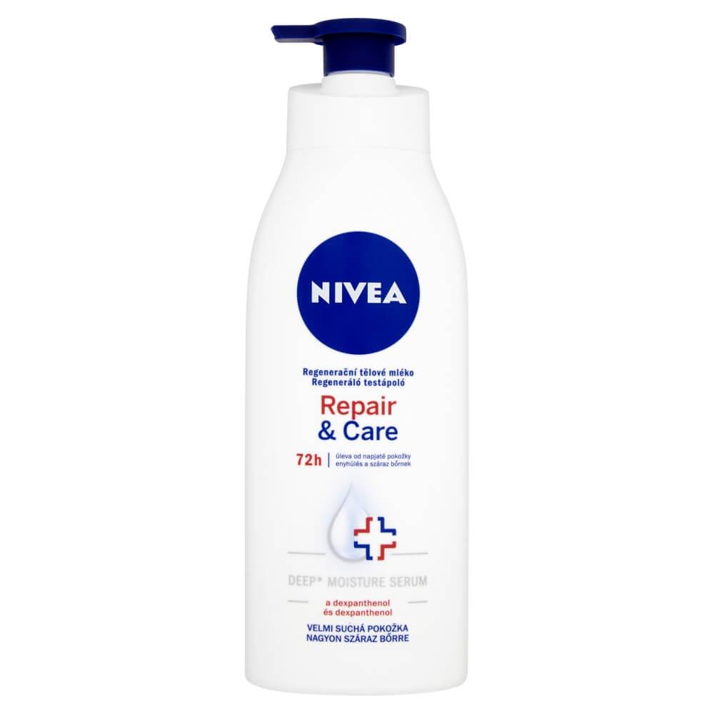 NIVEA Telové mlieko 400ML Repair and Care PUMPA