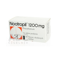 NOOTROPIL 1200 mg 60 filmom obalených tabliet