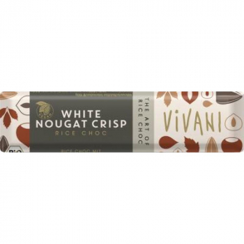 Nugátová tyčinka biela s ryžovým mliekom VIVANI - 35g - BIO