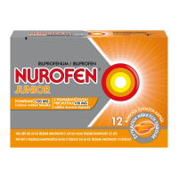 NUROFEN Junior s pomarančovou príchuťou 100 mg 12 mäkkých žuvacích kapsúl