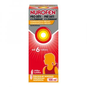 NUROFEN pre deti 4% pomaranč perorálna suspenzia 100 ml