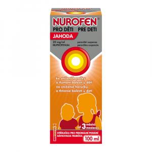 NUROFEN pre deti Jahoda perorálna suspenzia 100 ml