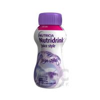 NUTRIDRINK Juice style s príchuťou čiernych ríbezlí 4x200 ml