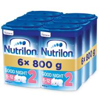 NUTRILON 2 Good Night Pokračovacie dojčenské mlieko od 6-12 mesiacov 6x 800 g