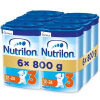 NUTRILON 3 Advanced Pokračovacie batoľacie mlieko od 12-24 mesiacov 6 x 800 g