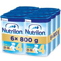 NUTRILON 4 Vanilla Pokračovacie batoľacie mlieko od 24-36 mesiacov 6x 800 g