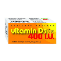 NATURVITA Vitamín D3 10 μg 400 I.U. 90 tabliet
