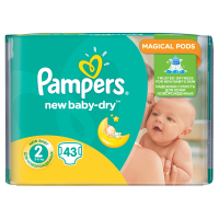 PAMPERS Active Baby-Dry 2 MINI 3-6 kg 43 kusov