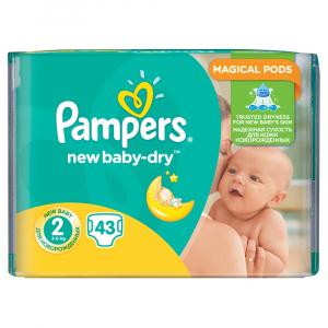 PAMPERS Active Baby-Dry 2 MINI 3-6 kg 43 kusov