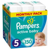 PAMPERS Active Baby Dry mesačné balenie 5 JUNIOR 11-16 kg 150 kusov