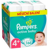 PAMPERS Active Baby mesačné balenie veľ.4 + 10-15 kg 164 ks