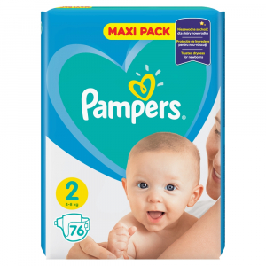PAMPERS Active Baby-Dry 2 MINI 3-6 kg 76 kusov