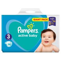 PAMPERS Active baby 3 midi 4 - 9 kg 90 kusov