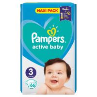 PAMPERS Active Baby-Dry 3 MIDI 5-9 kg 68 kusov