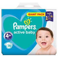 PAMPERS Active Baby-Dry 4+ MAXI 9-16 kg 70 kusov