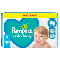 PAMPERS Active Baby veľ.5 Detské plienky 11-18 kg 50 ks