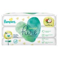 PAMPERS Coconut Pure Detské čistiace obrúsky 3x 42 ks