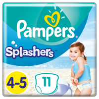 PAMPERS Splashers veť. 4-5  Plienkové nohavičky do vody 11 ks