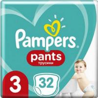 PAMPERS Pants vel.3 Plienkové nohavičky 6-11 kg 32 ks