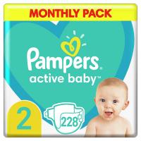 PAMPERS New Baby veľ.2 Detské plienky 3-6 kg 228 ks