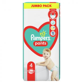 PAMPERS Pants 4 MAXI 9-14 kg 52 kusov