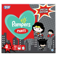 PAMPERS Pants veľ.4 Plienkové nohavičky 9-15 kg Warner Bros 72 ks