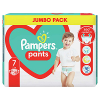 PAMPERS Pants veľ.7 Plienkové nohavičky 17 kg+ 38 ks