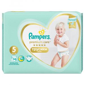 PAMPERS Premium Care Pants veľ.5 Plienkové nohavičky 12-17kg  34 ks