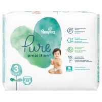 PAMPERS Pure Protect Veľ.3 Detské plienky 6-10 kg  31 ks