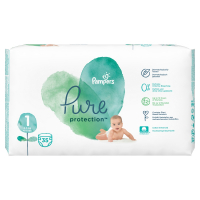 PAMPERS Pure Protect Veľ.1 Detské plienky 2-5 kg  35 ks