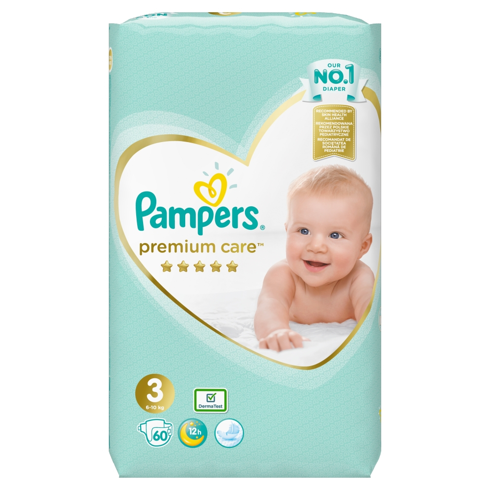 PAMPERS Premium Care 3 MIDI 4-9 kg 60 kusov