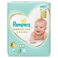 PAMPERS Premium Care veľkosť 3, 6-10 kg, 80 ks