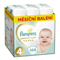 PAMPERS Premium Care mesačné balenie 4 MAXI 9-14 kg 168 kusov