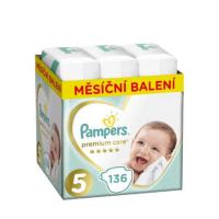 PAMPERS Premium Care mesačné balenie 5 JUNIOR 11-18 kg 136 kusov