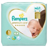 PAMPERS Premium Care Pack S1 Newborn 2-5 kg 26 ks