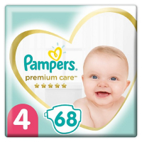 PAMPERS Premium Care veľ.4 Detské plienky 9-14 kg 68 ks