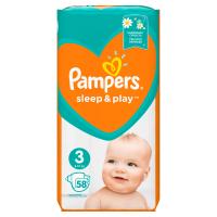 PAMPERS Sleep&Play 3 MIDI 4-9 kg 58 kusov