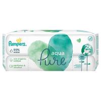 PAMPERS Vlhčené ubrúsky Aqua Pure 2x 48 ks