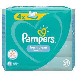 PAMPERS Vlhčené obrúsky Fresh Clean 4x52 ks