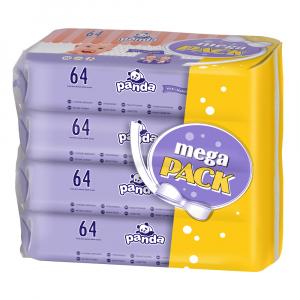 PANDA Čistiace vlhčené obrúsky 4x64 ks 256 ks
